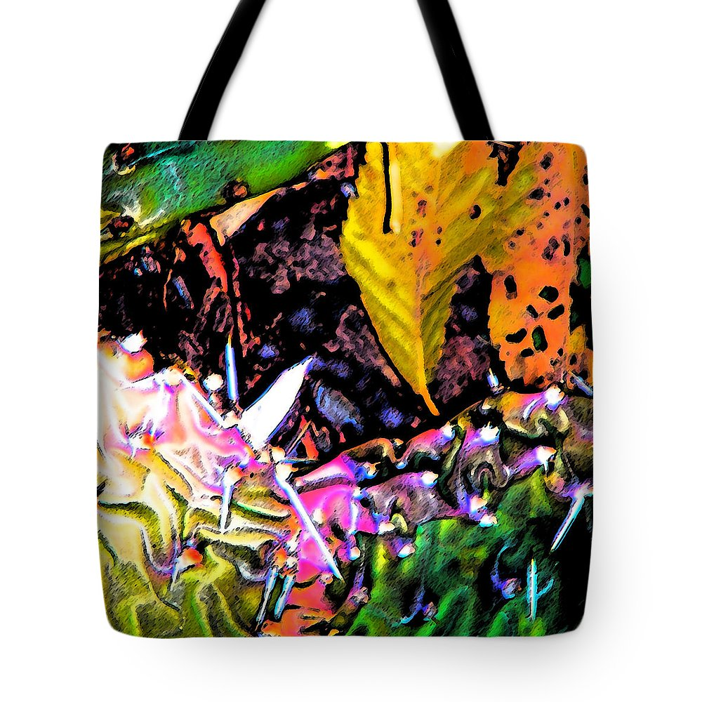 Abstract Tote Bag featuring the digital art Textures by Lenore Senior