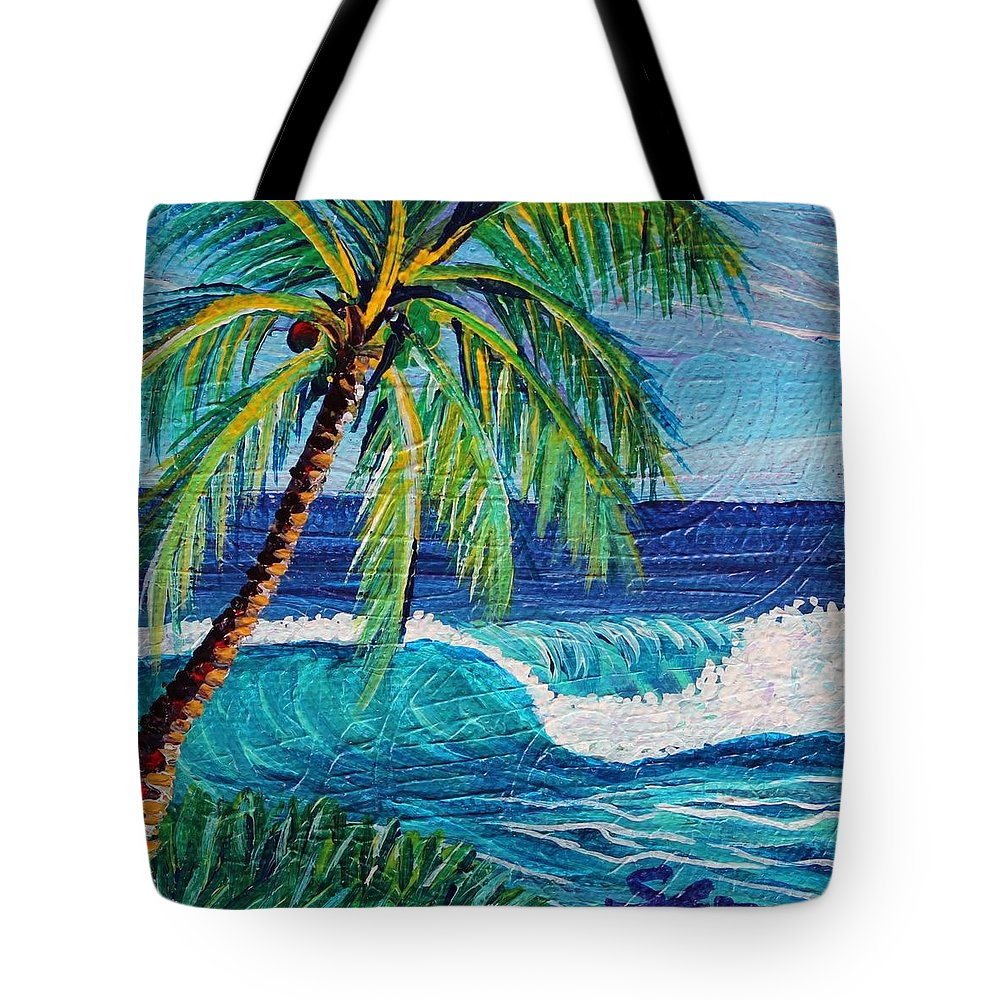 Tote Bag featuring the painting Textures Of Afternoon by Suzanne MacAdam