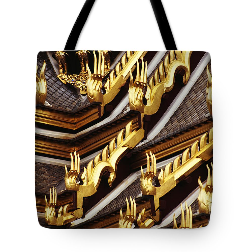 Architectural Tote Bag featuring the photograph Thailand, Bangkok by Kyle Rothenborg - Printscapes