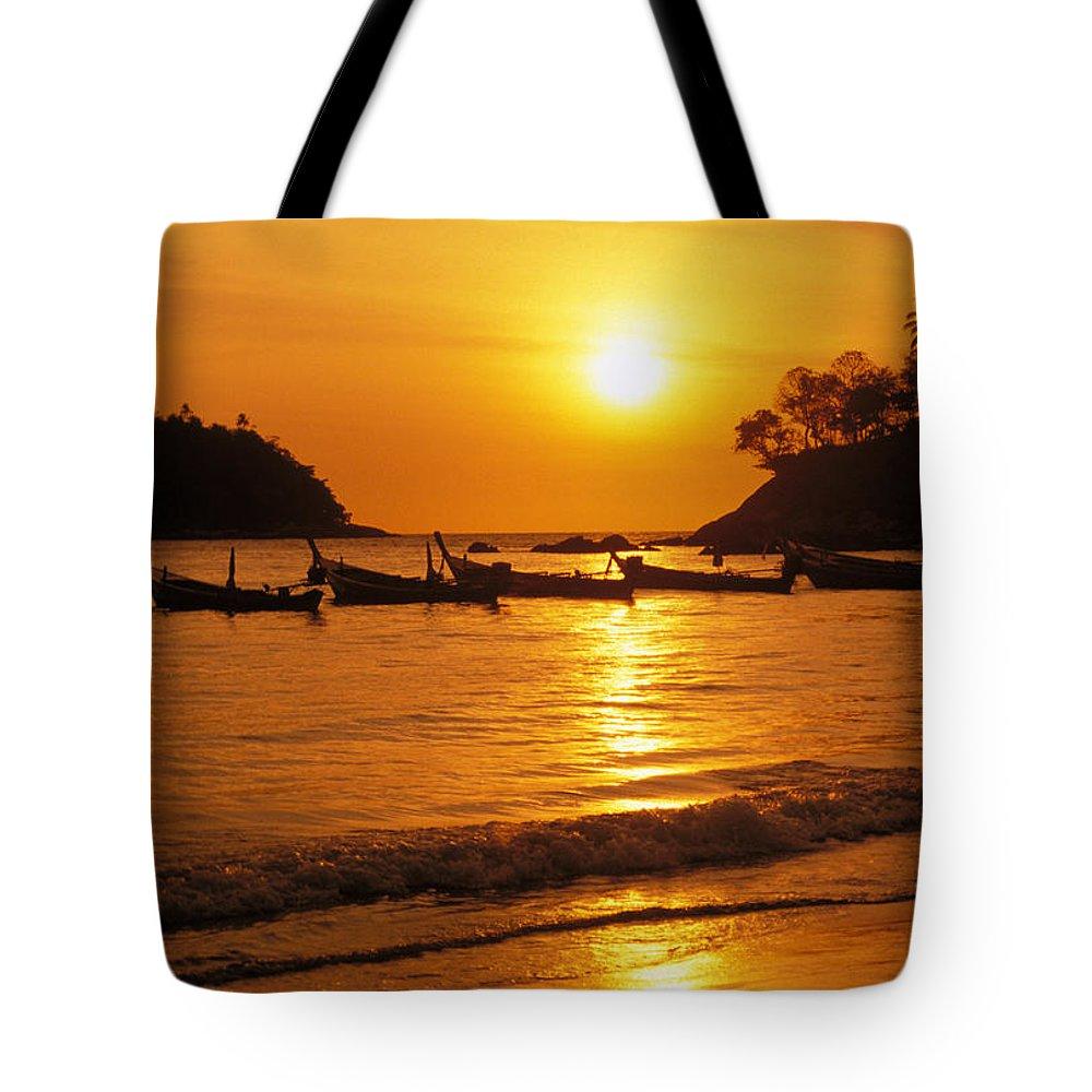 Beach Tote Bag featuring the photograph Thailand, Phuket by Rita Ariyoshi - Printscapes