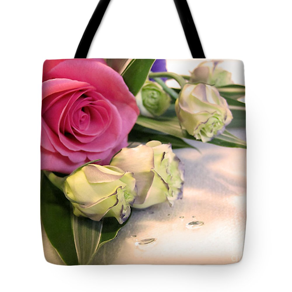 Flowers Tote Bag featuring the photograph Thank You Rose Bouquet by Eena Bo