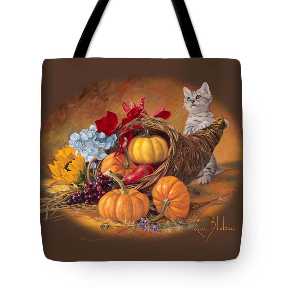 Thanksgiving Paintings Tote Bags