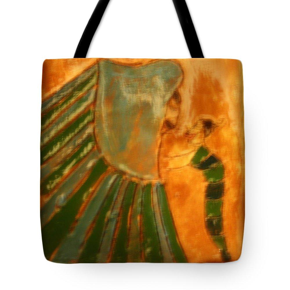 Jesus Tote Bag featuring the ceramic art Thanks Jaaja - Tile by Gloria Ssali