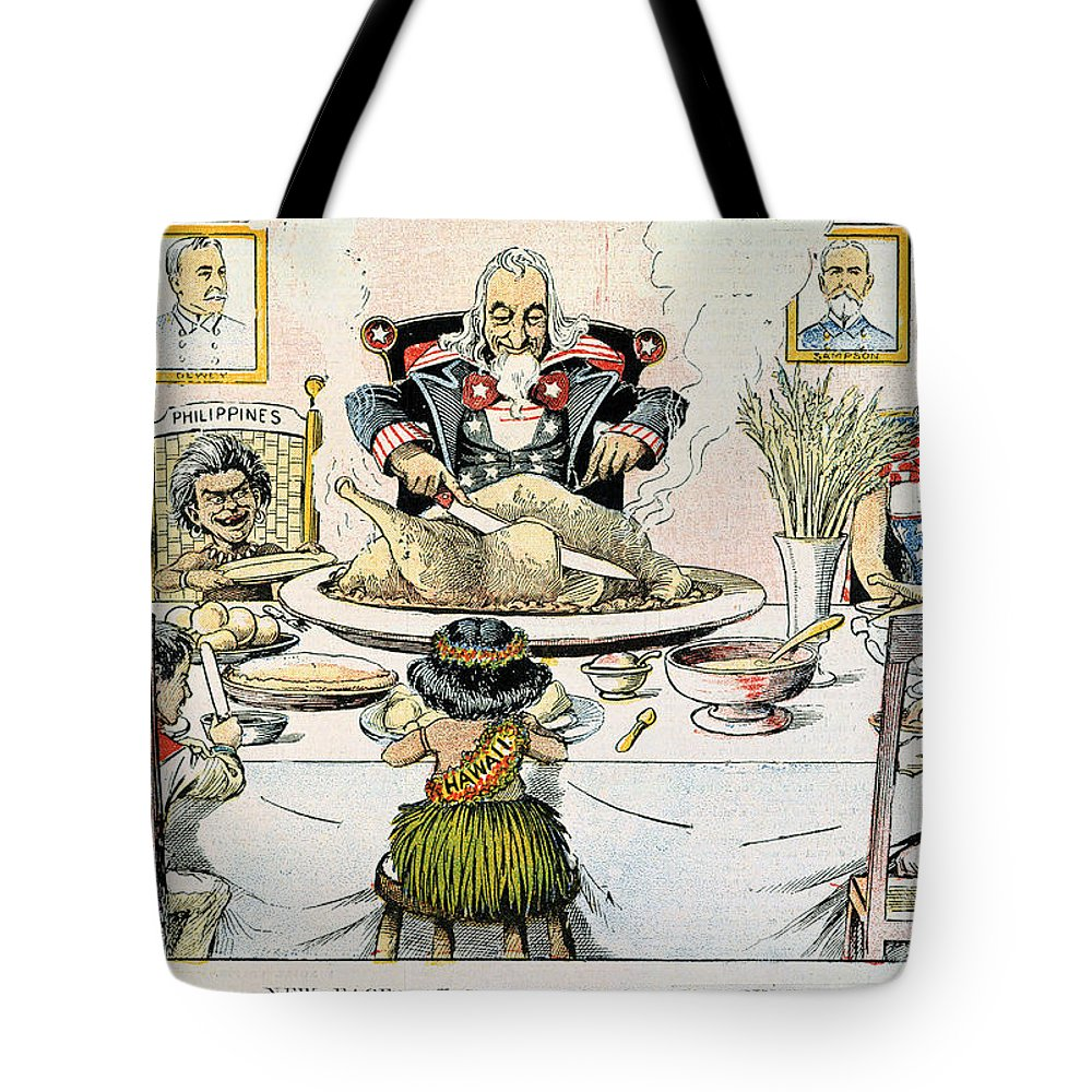 1898 Tote Bag featuring the photograph Thanksgiving Cartoon, 1898 by Granger