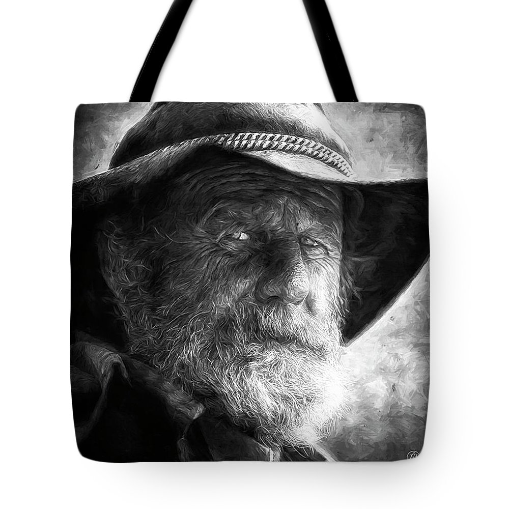 Male Tote Bag featuring the digital art That Ol' Devil Ain't Caught Me Yet. by Rick Wiles