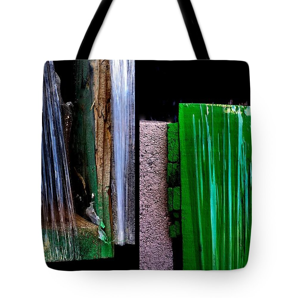 Urban Photography Tote Bag featuring the painting That's A Wrap by Marlene Burns