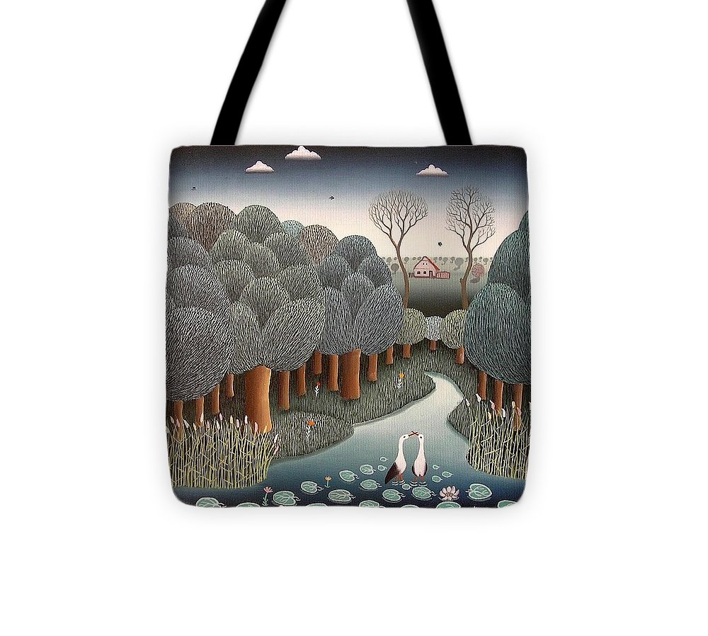 Forest Tote Bag featuring the painting That's Love by Ferenc Pataki