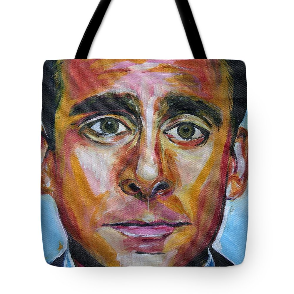 That's What She Said Tote Bag featuring the painting That's What She Said by Kate Fortin