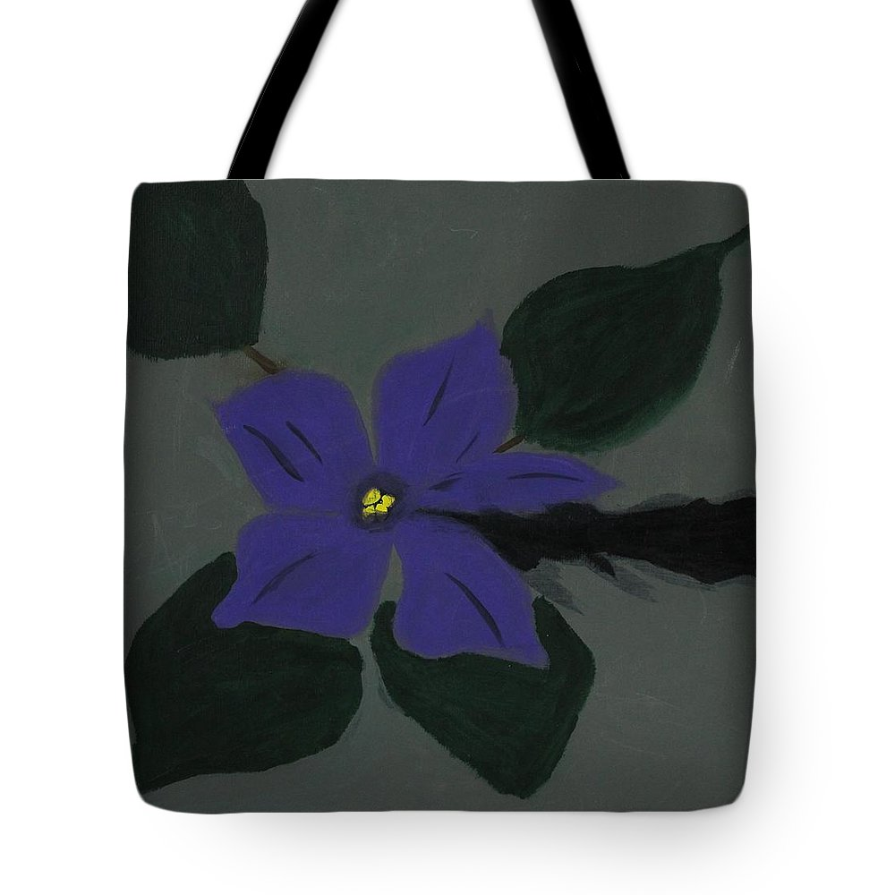 Hope Tote Bag featuring the painting The African Violet through the cracks by Sonye Locksmith