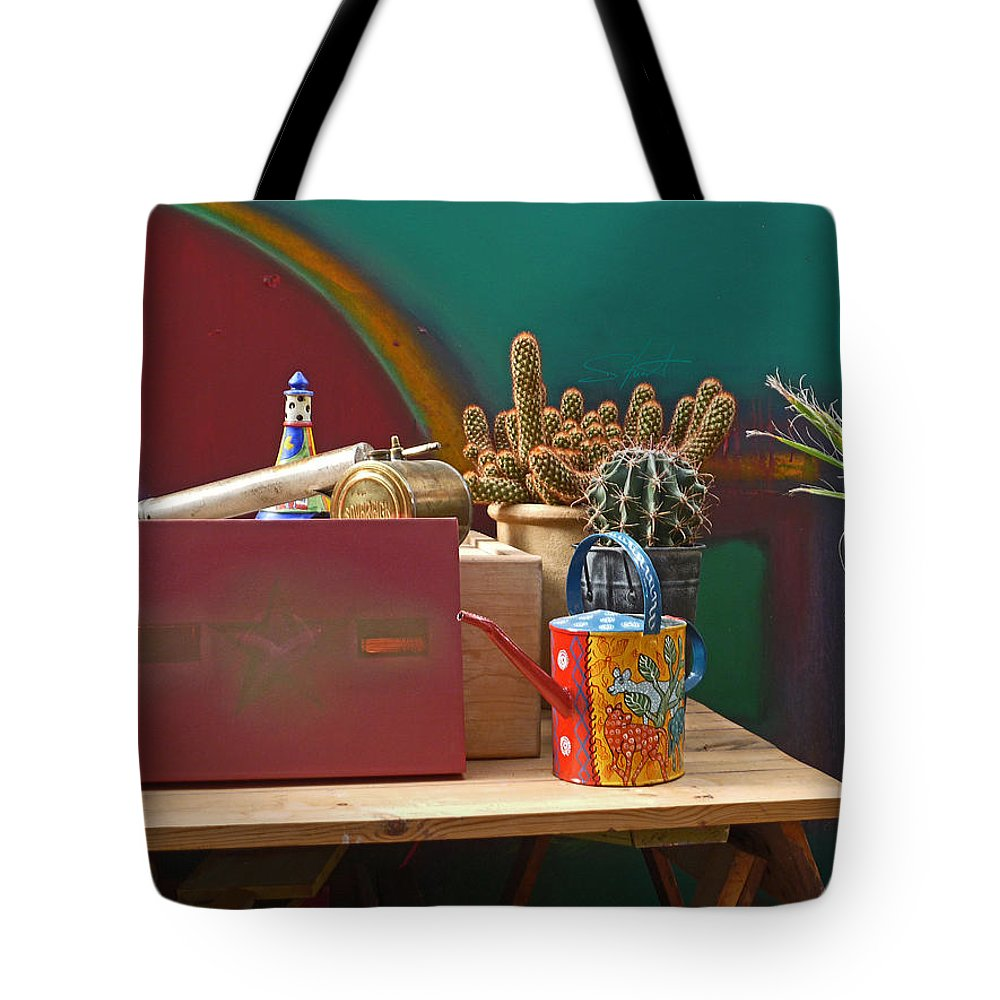 Garden Room Tote Bag featuring the photograph The African Watering Can by Charles Stuart