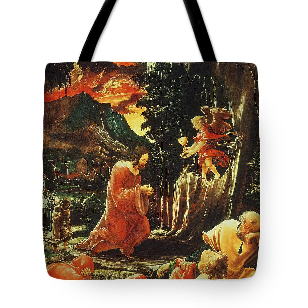 The Agony In The Garden Tote Bag Featuring The Painting The Agony In The  Garden By