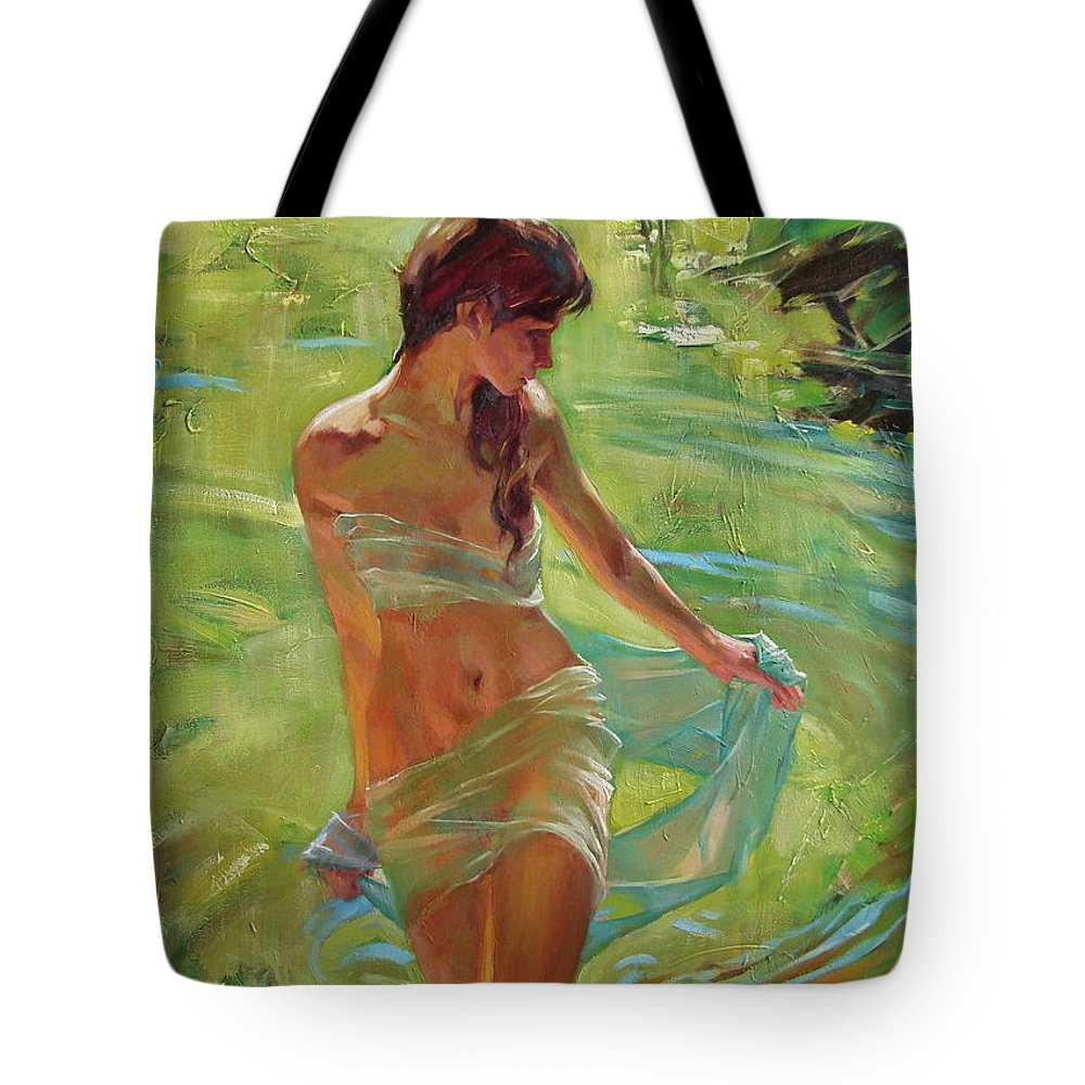 Ignatenko Tote Bag featuring the painting The allegory of summer by Sergey Ignatenko