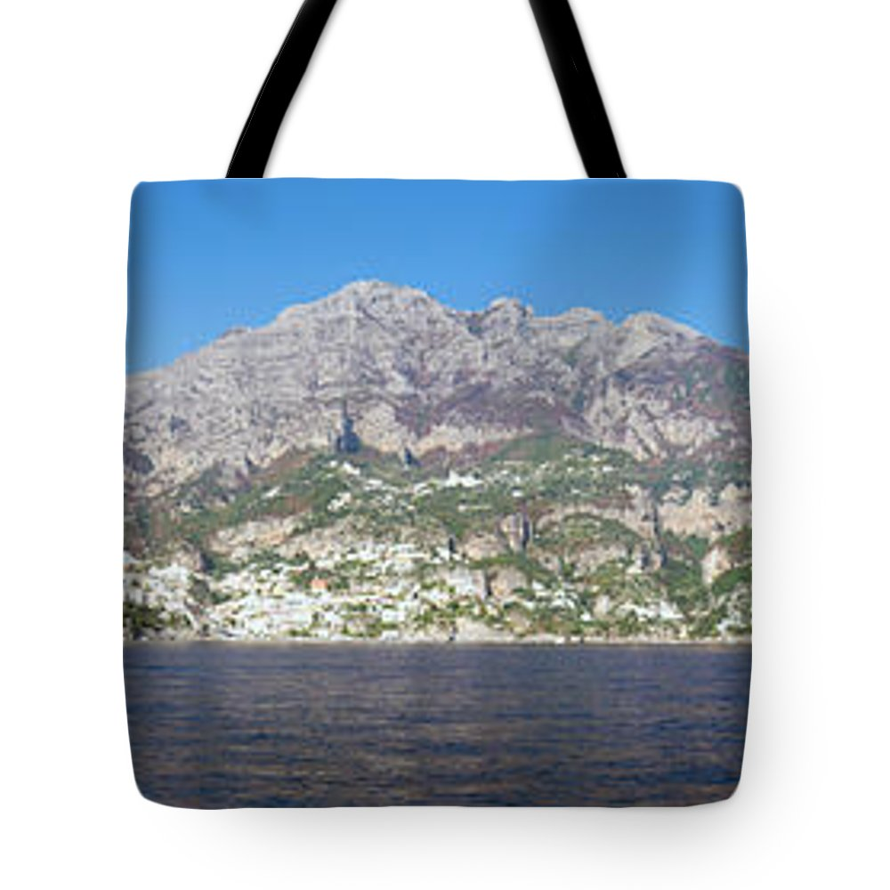 Europe Tote Bag featuring the photograph The Amalfi Coast - Panorama by Matt Swinden