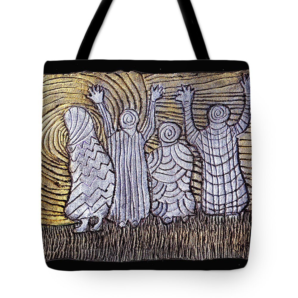 Spirits Tote Bag featuring the painting The Ancients by Wayne Potrafka