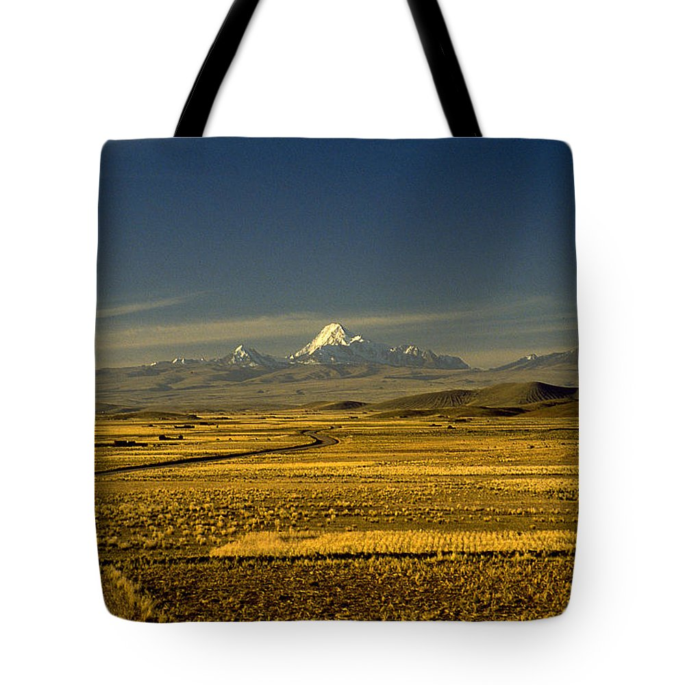 Latin America Tote Bag featuring the photograph The Andes by Michael Mogensen