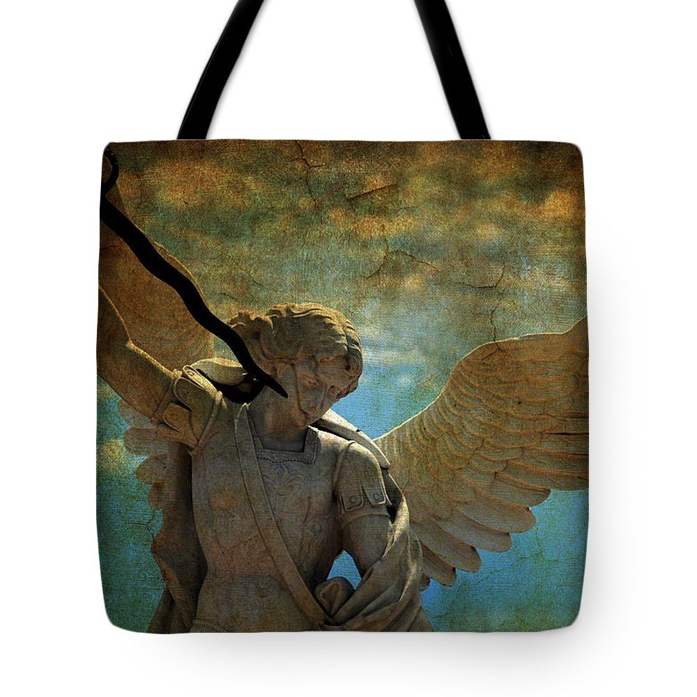 Angel Tote Bag featuring the photograph The Angel Of The Last Days by Susanne Van Hulst