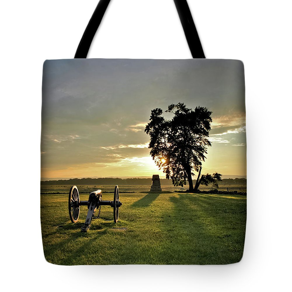 Civil War Tote Bag featuring the photograph The Angle by Jen Goellnitz