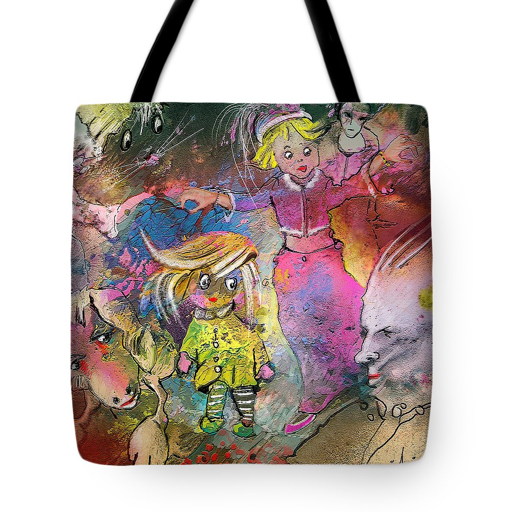Fantasy Tote Bag featuring the painting The Angry Father by Miki De Goodaboom