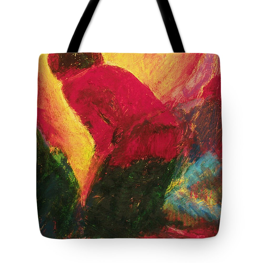 The Annunciation Tote Bag featuring the painting The Annunciation - Bganc by Fr Bob Gilroy SJ