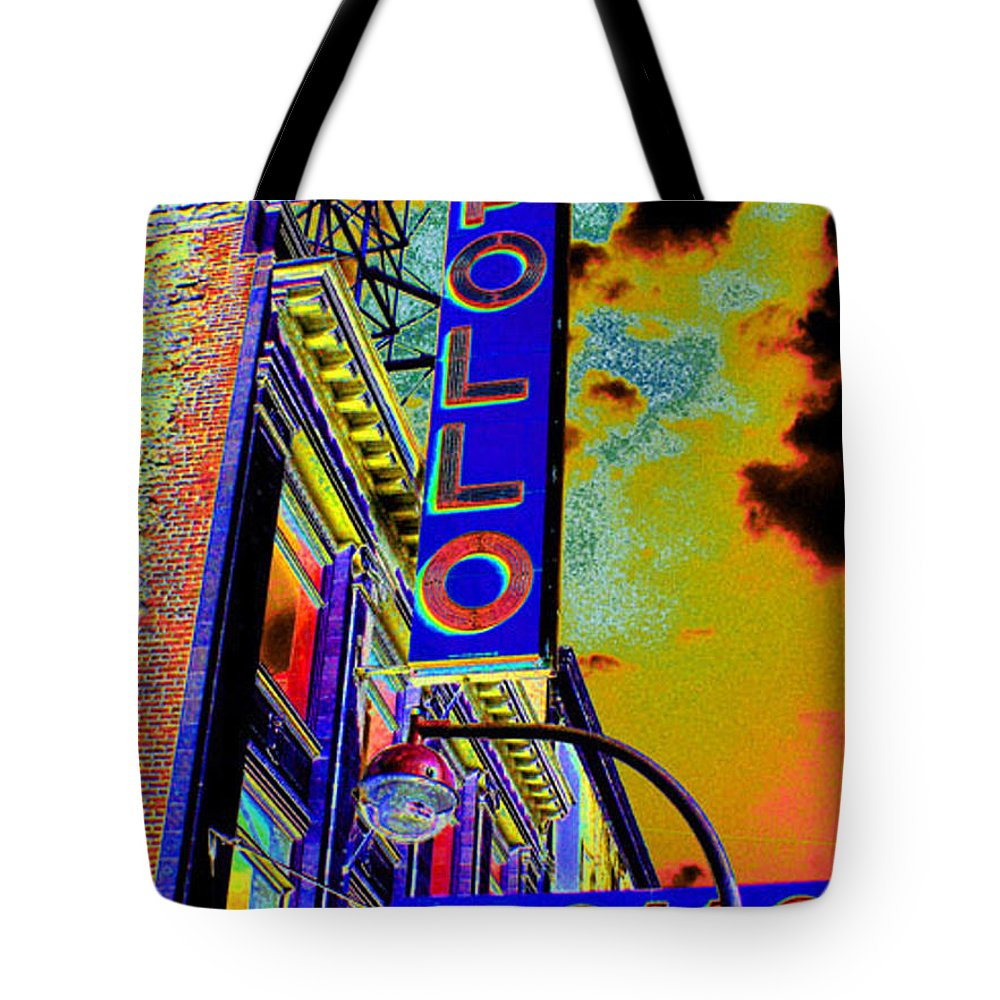 Harlem Tote Bag featuring the photograph The Apollo by Steven Huszar