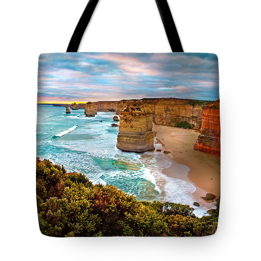 12 Apostles Tote Bag featuring the photograph The Apostles Sunset by Az Jackson