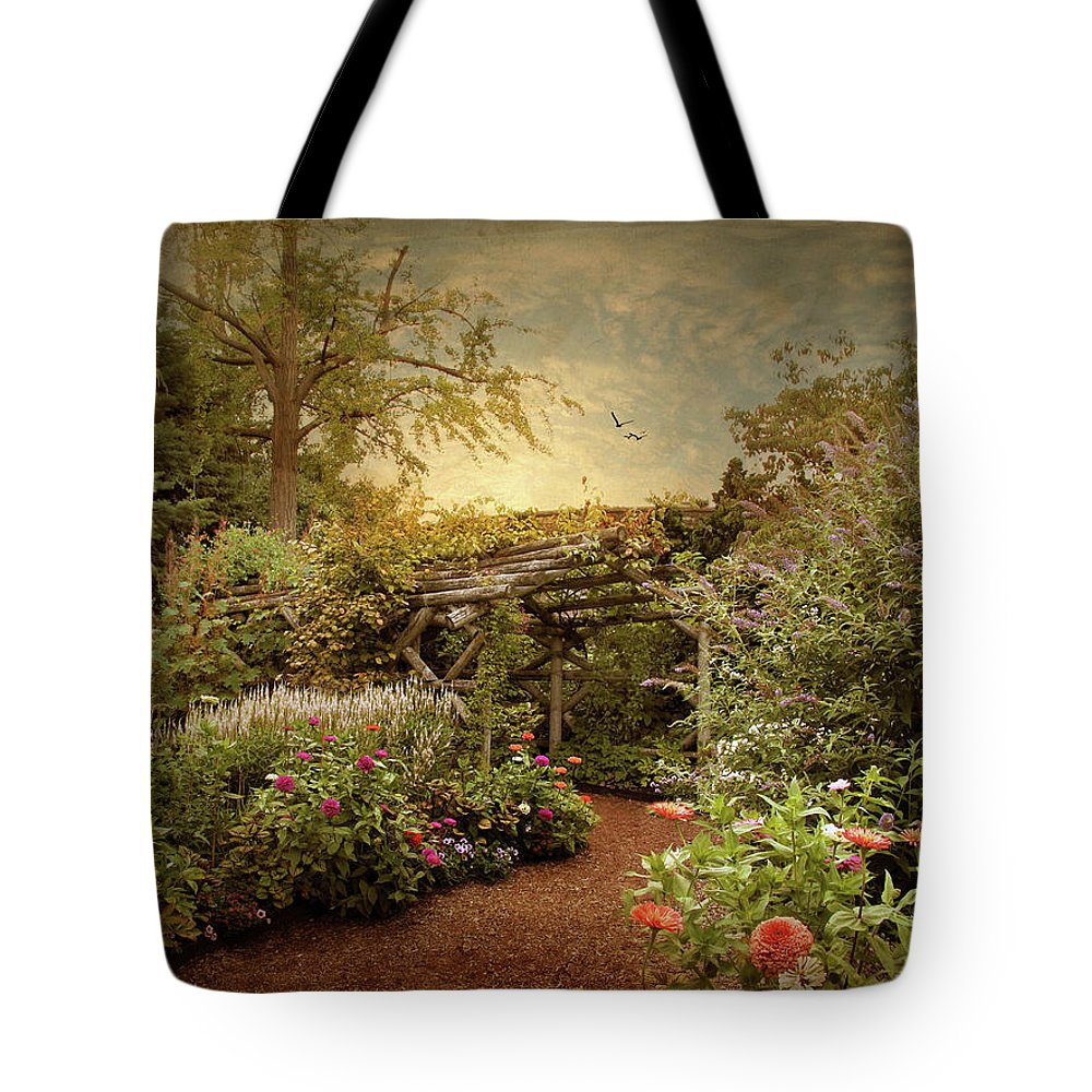 Nature Tote Bag featuring the photograph The Arbor by Jessica Jenney