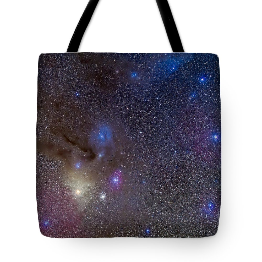 Antares Tote Bag featuring the photograph The Area Around The Head Of Scorpius by Alan Dyer