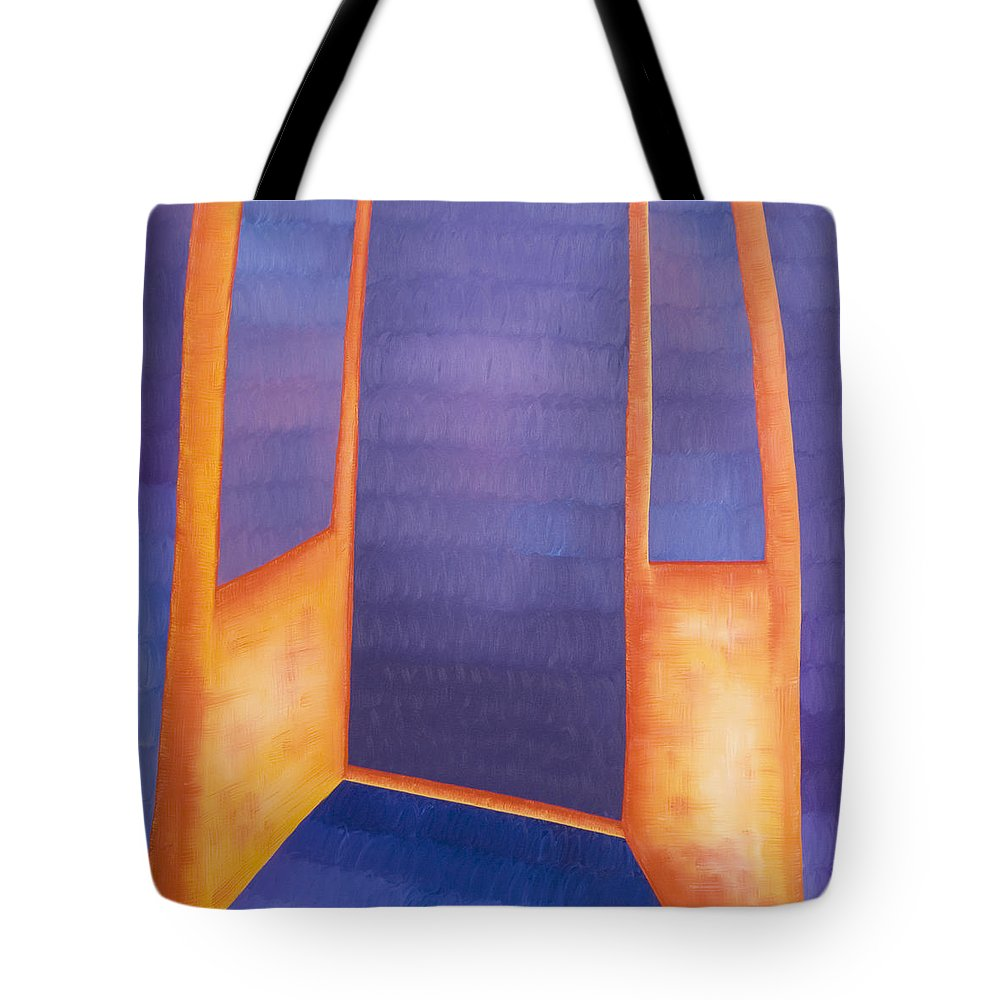 Death Tote Bag featuring the painting The Arrival by Judy Henninger