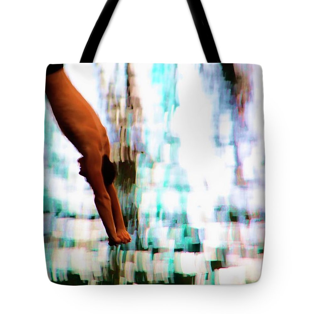 Man Tote Bag featuring the photograph The Art Of Diving 2 by Jeff Breiman