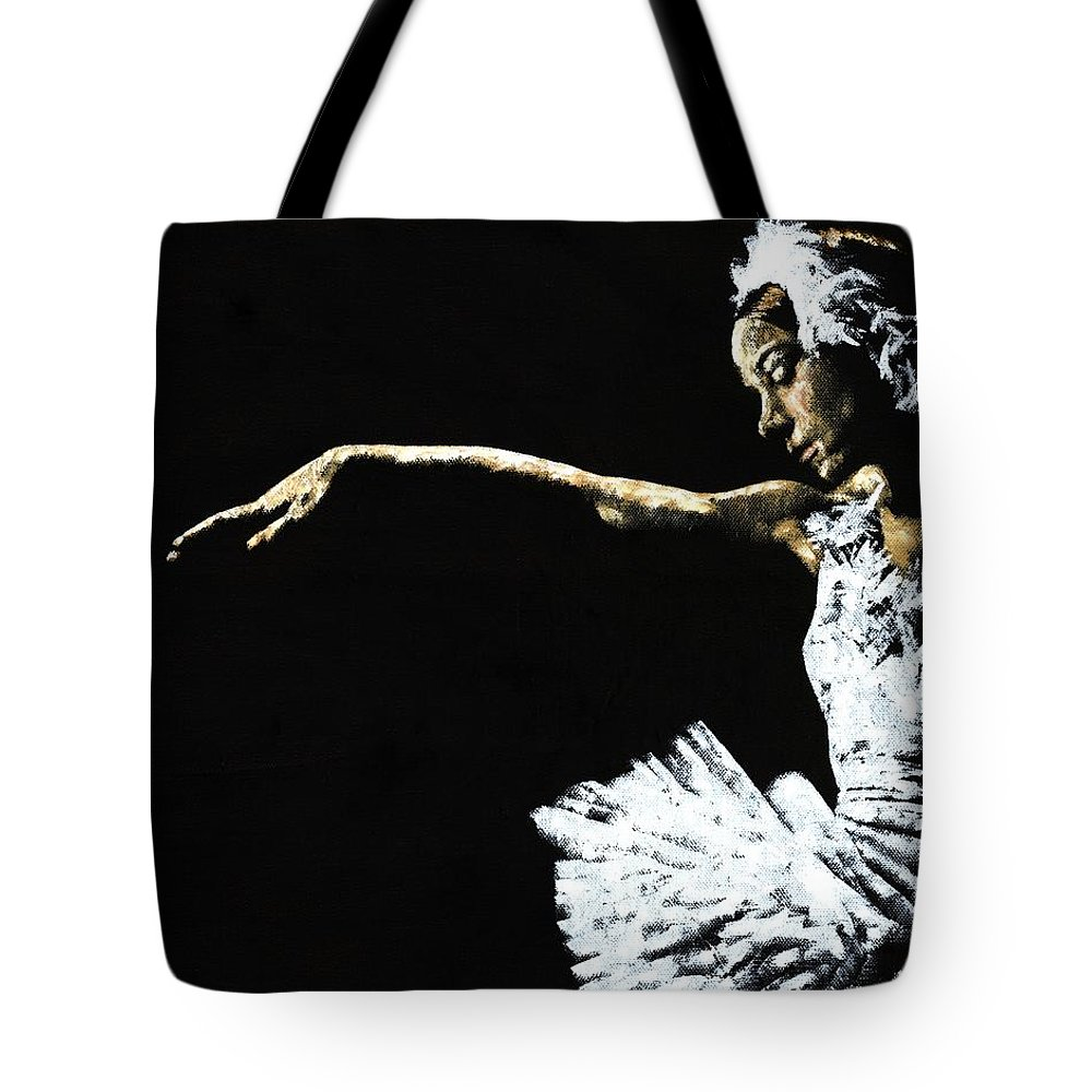 Ballet Tote Bag featuring the painting The Art Of Grace by Richard Young