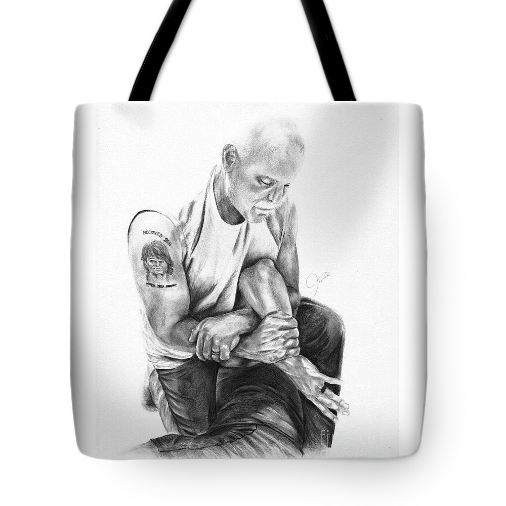 Bjj Tote Bag featuring the drawing The Art Of Jiujitsu- The Kimura by Jenica Wynne