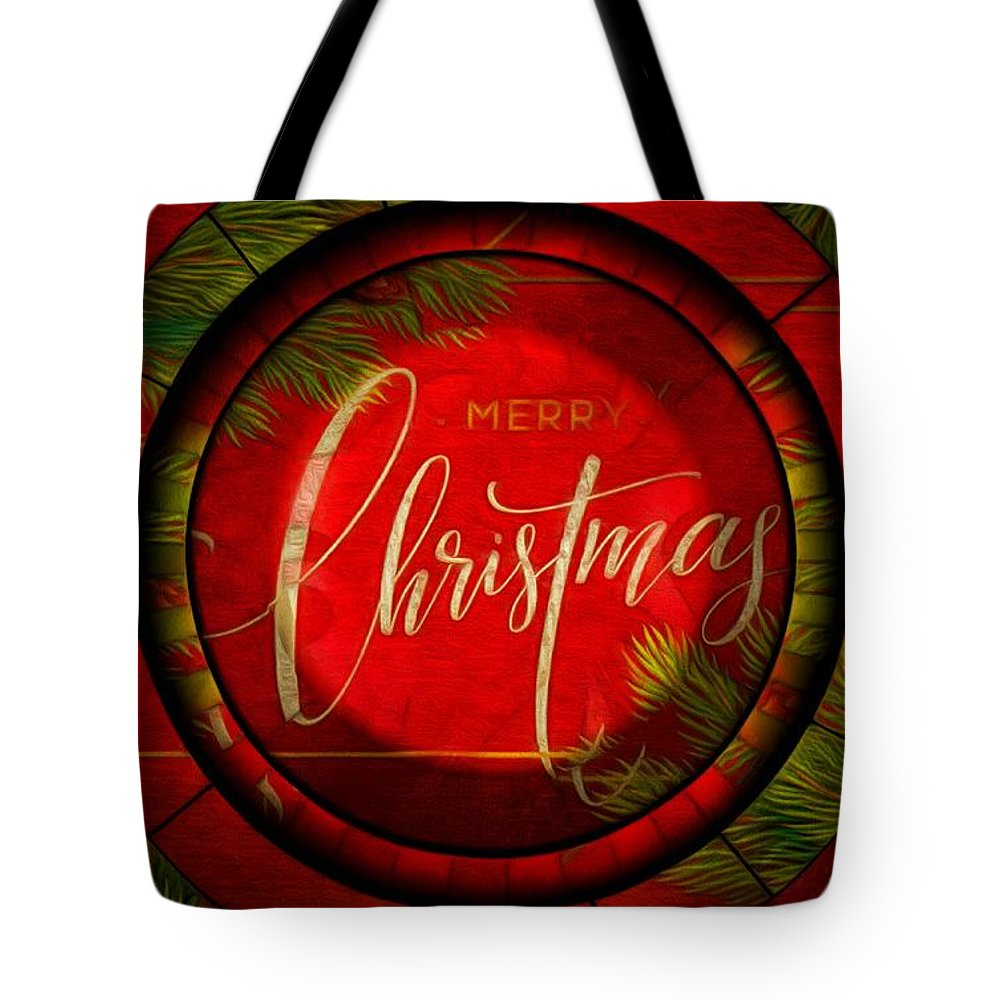 Digital Artistry Tote Bag featuring the digital art The Art Of Vhristmas Cheer by Mario Carini