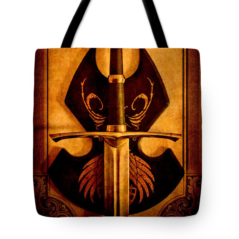 Loriental Tote Bag featuring the photograph The Art Of War - Eternal Portrait Of A Warrior by Loriental Photography