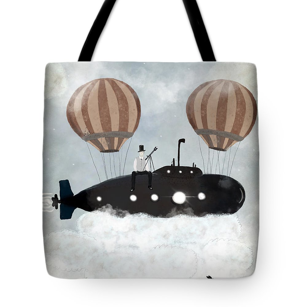 Space Exploration Paintings Tote Bags