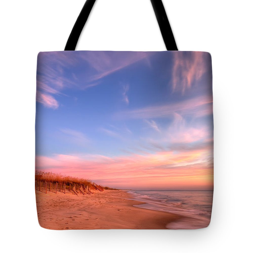 Beach Tote Bag featuring the photograph The Atlantic Coast At Sunrise by Rich Leighton