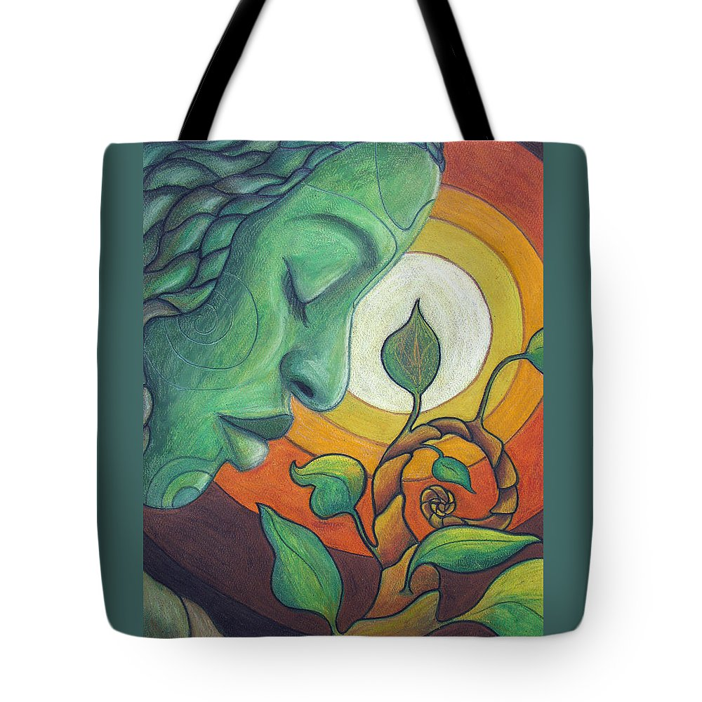 Nature Tote Bag featuring the drawing The Awakening by Kimberly Kirk