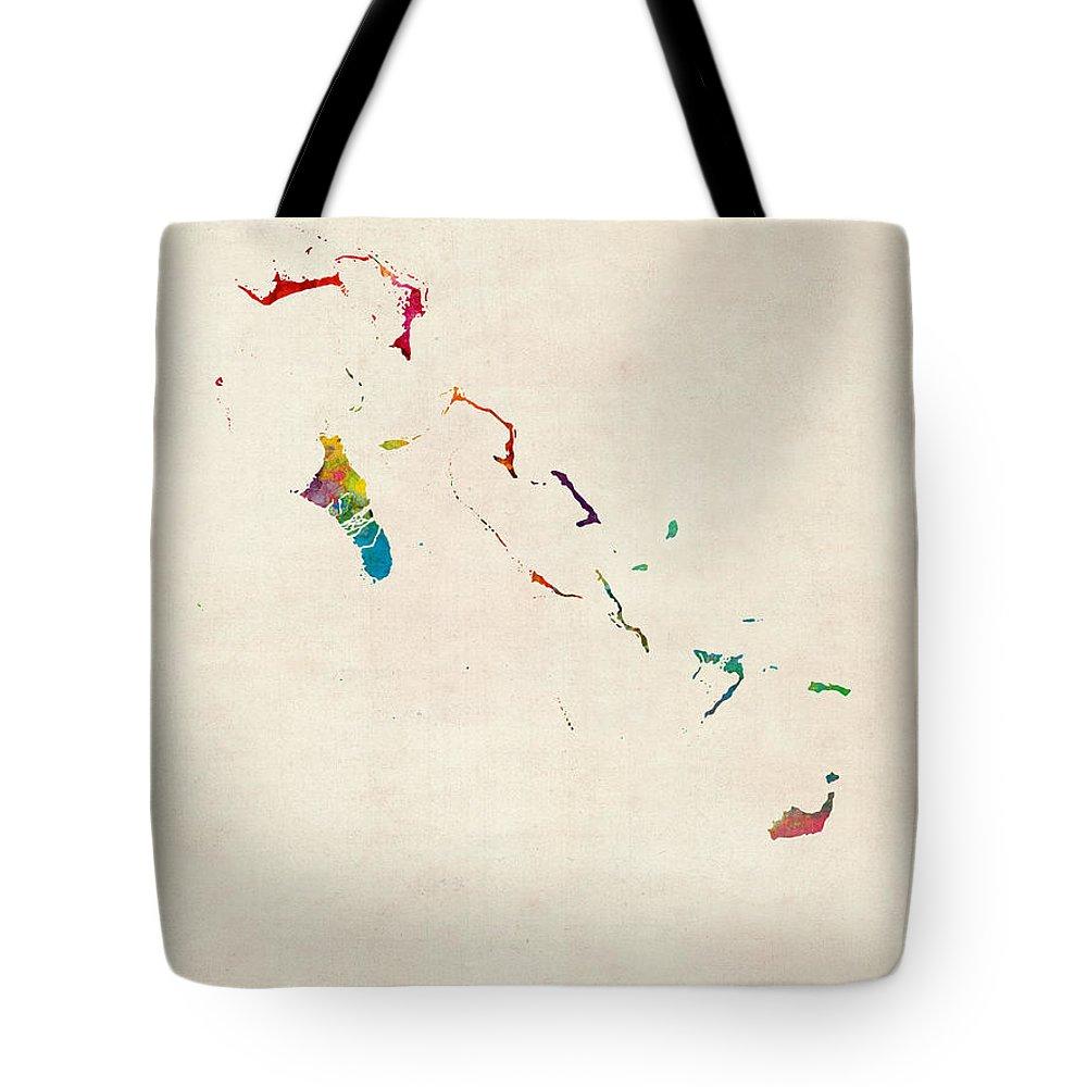 Bahamas Digital Art Tote Bags