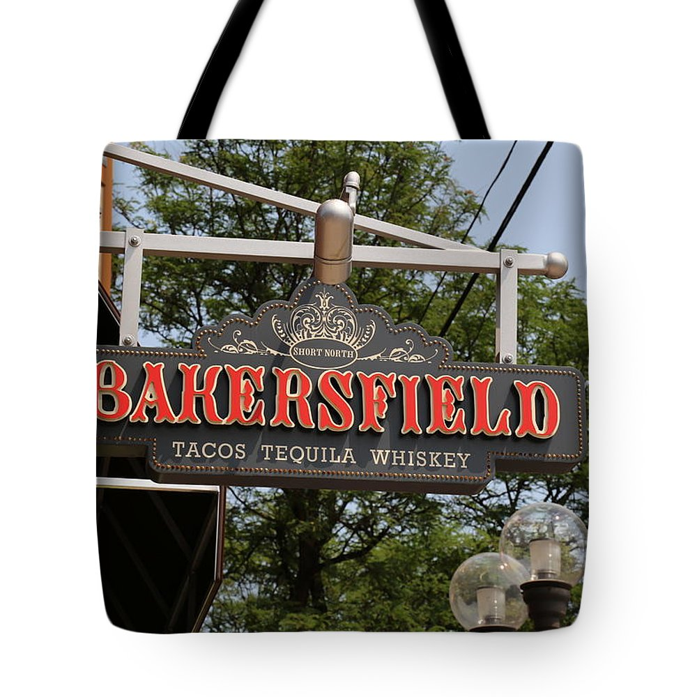 Sign Tote Bag featuring the photograph The Bakersfield Sign by Jeff Roney