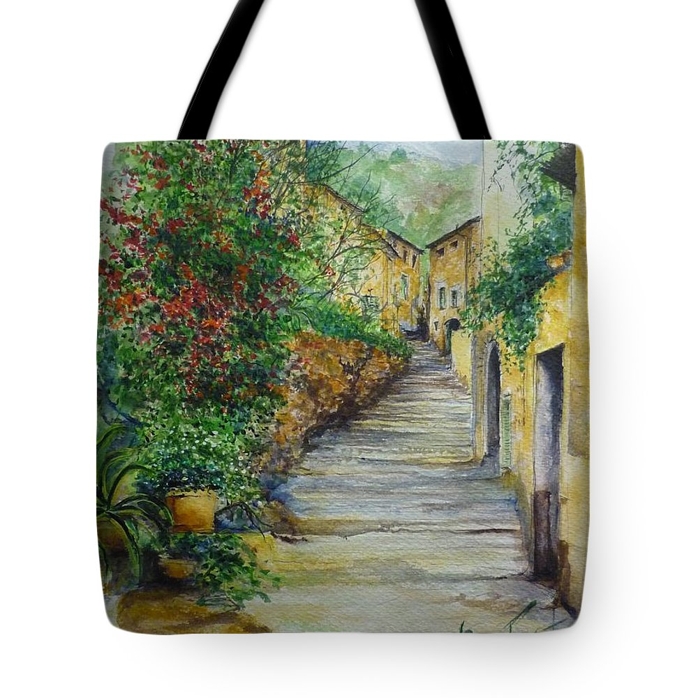 Original Paintings Of Mallorca Tote Bag featuring the painting The Balearics Typical Spain by Lizzy Forrester