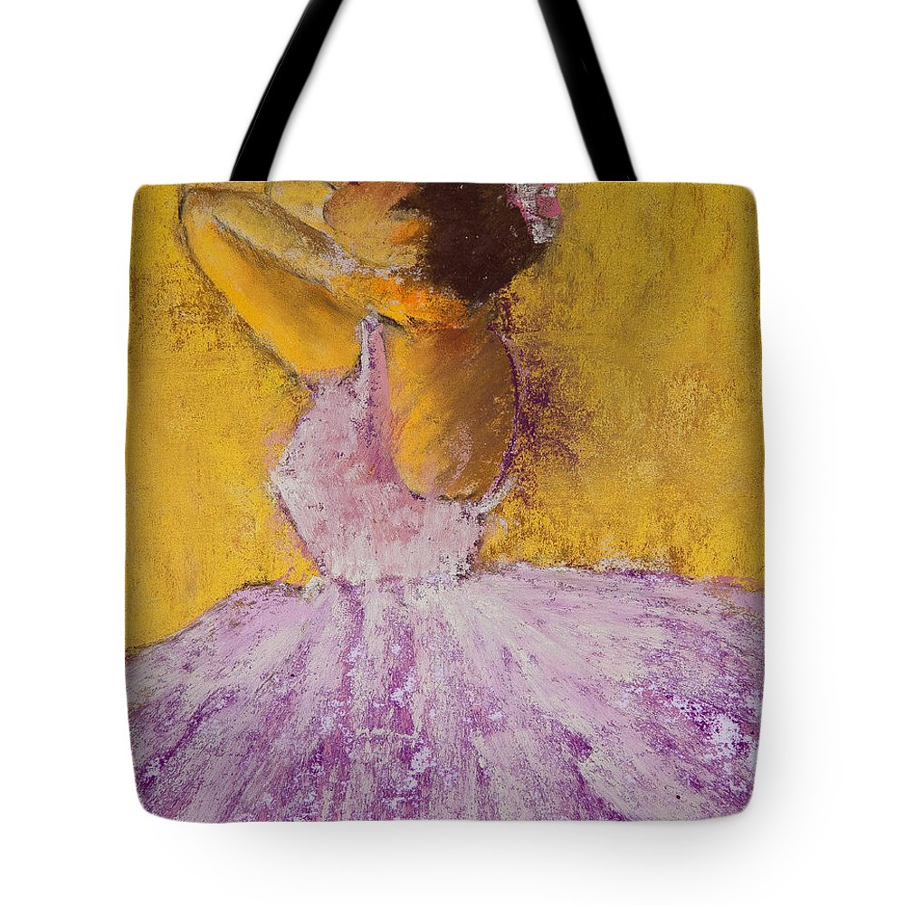 Pastel Tote Bag featuring the painting The Ballet Dancer by David Patterson