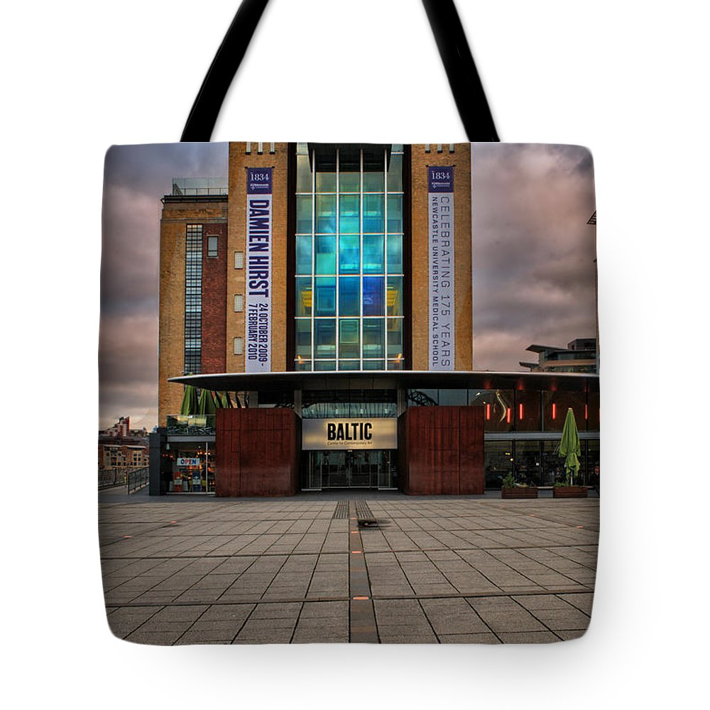 Baltic Gateshead Tote Bag featuring the photograph The Baltic by Smart Aviation