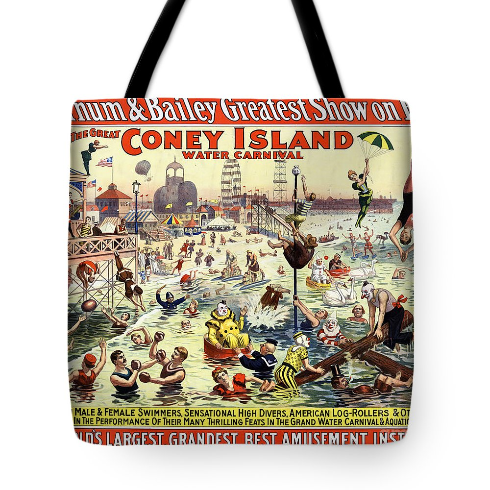 Barnum And Bailey Mixed Media Tote Bags
