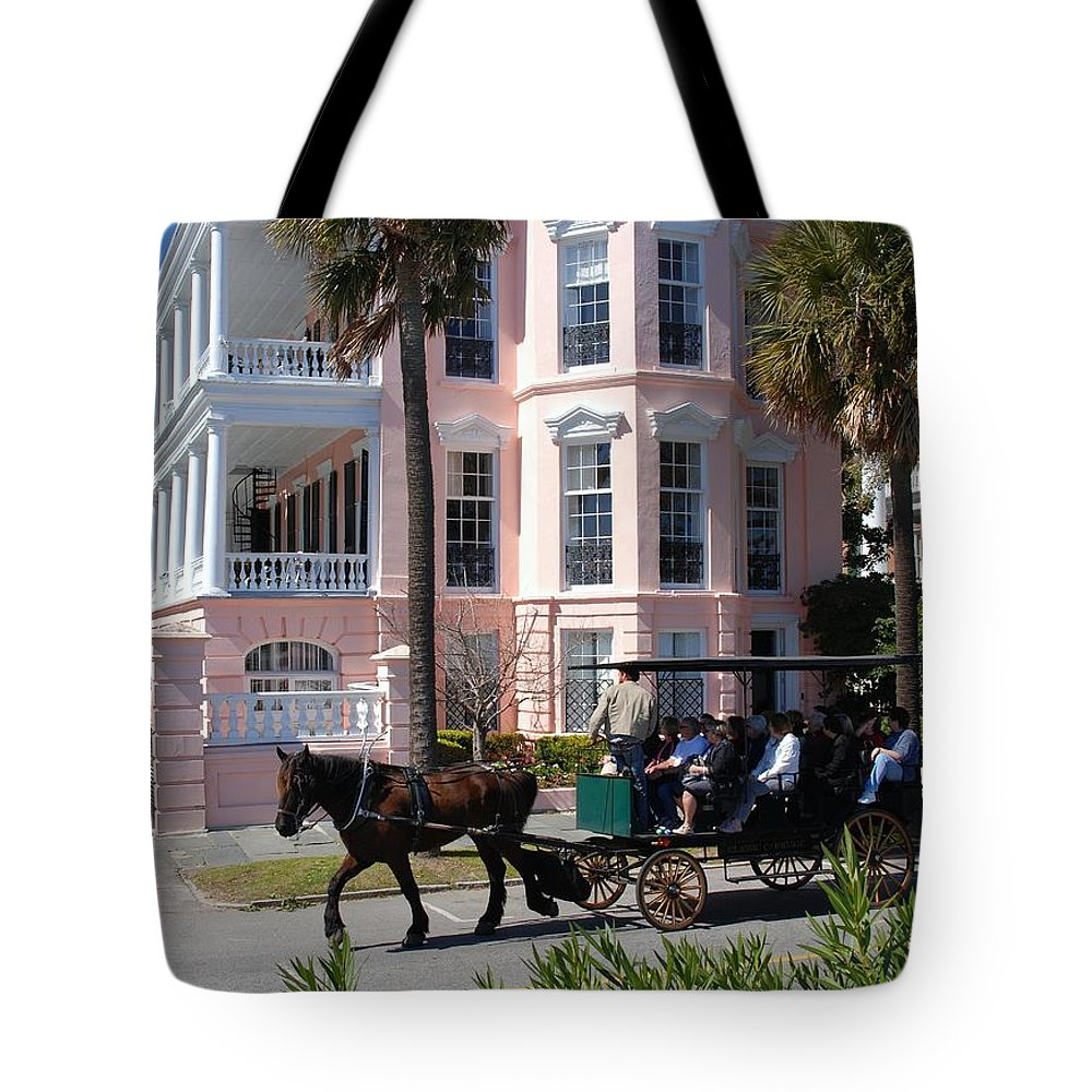 Photography Tote Bag featuring the photograph The Battery In Charleston by Susanne Van Hulst