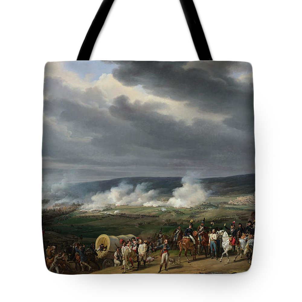 Casualties Tote Bag featuring the painting The Battle Of Jemappes by Emile-Jean-Horace Vernet