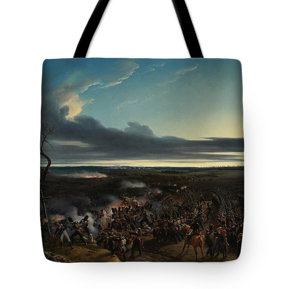 Aristocrat Tote Bag featuring the painting The Battle Of Montmirail by Emile-Jean-Horace Vernet