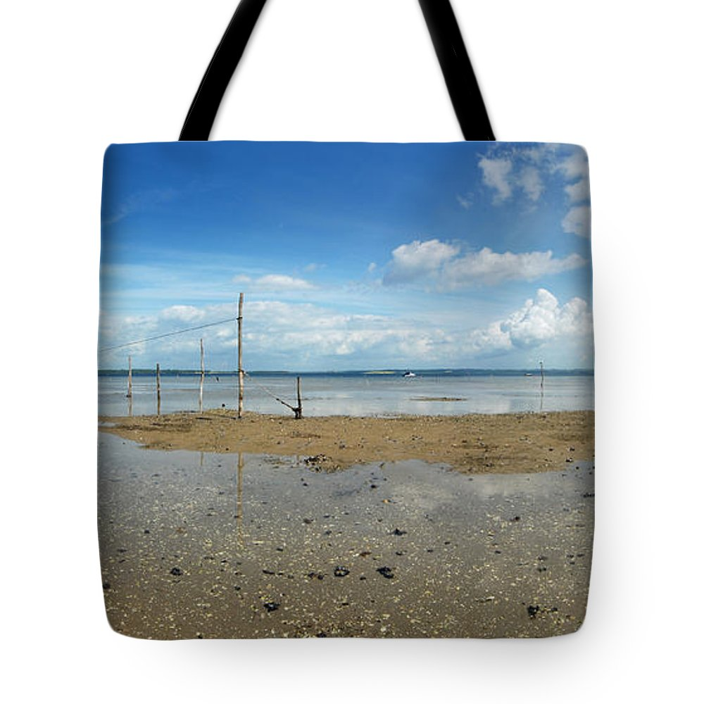 Beach Tote Bag featuring the photograph The Beach At Helnaes by Robert Lacy