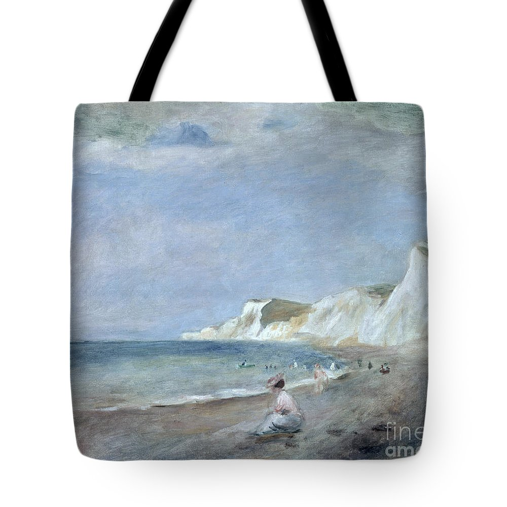 The Tote Bag featuring the painting The Beach At Varangeville by Renoir