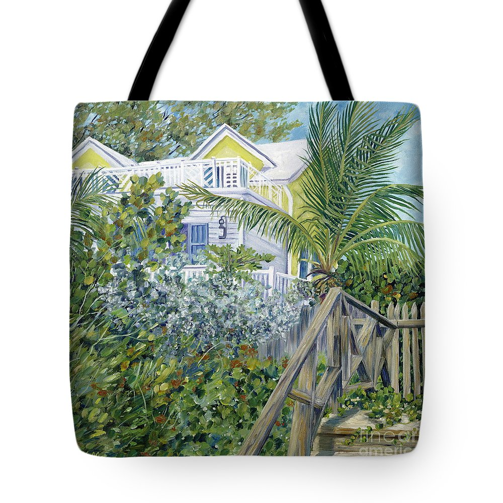 Beach House Tote Bag featuring the painting The Beach House by Danielle Perry