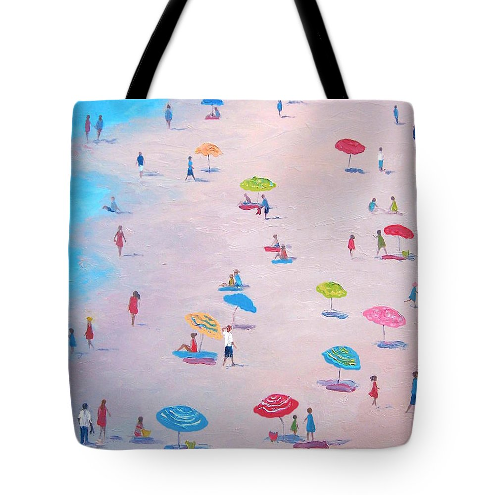 Beach Tote Bag featuring the painting The Beach by Jan Matson