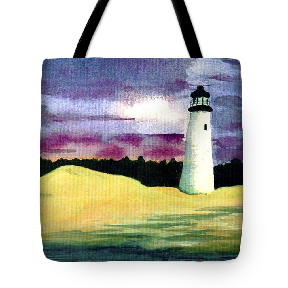 Fine Art Tote Bag featuring the painting The Beacon by Patricia Griffin Brett